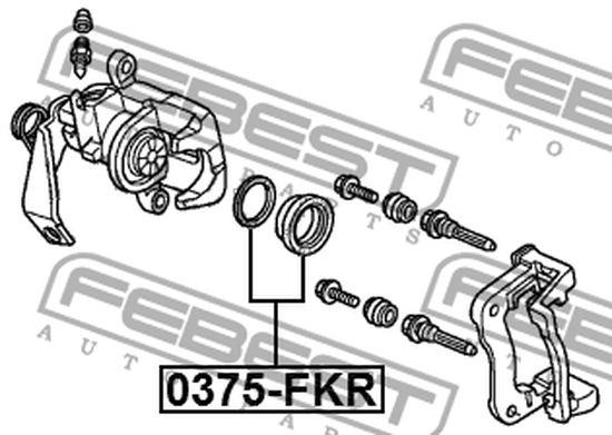 43017-SMG-E01 BREMSSATTEL HINTEN REPARATURSATZ HONDA OE z.Vergl.